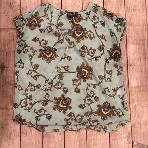 NY& Co aqua blouse